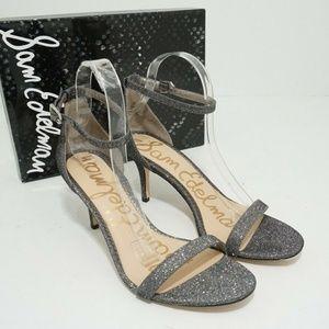 🆕Sam Edelman Patti Pewter Gray Fabric Sandal
